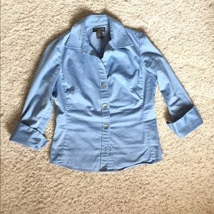 {banana republic} light blue button down shirt